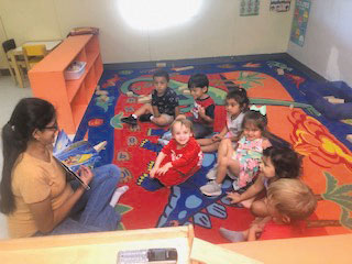 Karla Infante teaches a class one week after opening on Monday, May 18, at Fredericksburg Community Preschool.