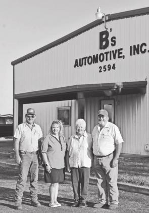 B's Automotive is officially under new ownership. Randy and Shelley Juenke, left, took ownership in January 2020. Charlotte and Warren Burrer, right, opened the business in 1983 with the focus on auto mechanic repair and wheel alignment. Today, the shop continues to offer auto repairs as well as a focus on customer service. — Standard-Radio Post/Ann Duecker