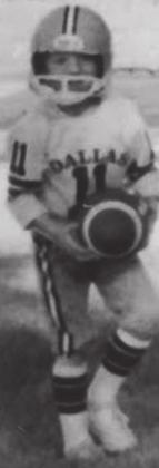 Five-year-old Dusty Gibbs, wore his Dallas Cowboys uniform every Sunday.