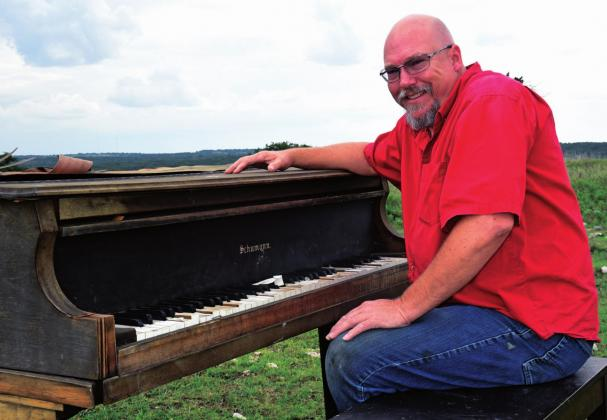 Holzscheiter got the piano from St. Barnabas Episcopal Church, and has played for his family during weddings and holidays. It wore out over the years, so he thought it would be a fun prank to pull on his family by setting it out in their pasture.