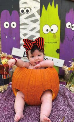 Kinsley Aguirre, daughter of Jose Aguirre, was the winner of the Cutest and Spookiest Halloween Costume Contest. She will receive a $100 gift card to Liebeskind. The contest drew 127 entries and received votes from seven states and Mexico. — Submitted photo