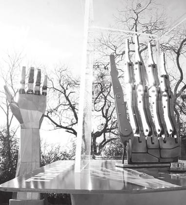 The Science Mill offers more than 50 hands-on and minds-on exhibits that are fun for all ages, including the 30-foot Colossal Robotic Hand, which moves in response to a joystick-controlled mini hand. – Submitted photo