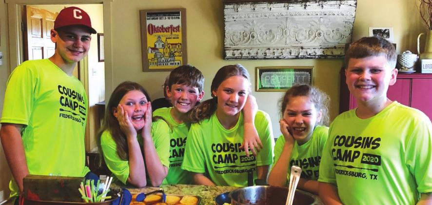 This year's theme for Cousins Camp was sports week. Each day, the six cousins participated in multiple local activities. From left: Tye Leatherman, Mya Leatherman, Sam Proffitt, Charley Proffitt, Olivia Proffitt and Jax Leatherman. —Submitted photo/Linda Proffitt