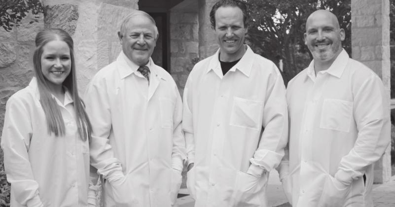 Fredericksburg Dentistry recently welcomed two new dentists to its staff. Pictured from left is Dr. Gretchen Lochte, Dr. Thomas E. Schmidt, Dr. Jay Lindsay and Dr. Robert Sawyer. — Submitted photo