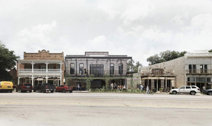 The Albert Hotel, a multi-story project, is proposed to be built at 209 E. Austin Street. Its building front will be on Main Street, next to Vaudeville. — Submitted photo