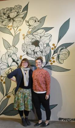 Gina Shannon, left, and Mon-ica Immel started Avant Garde Collective, located at 209 South Llano Street. The brick-and-mortar shop allows artists of all backgrounds to create and sell art. It is also a space for workshops and classes. — Standard-Radio Post/McKenzie Moellering