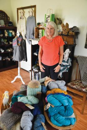 Sarah Schroeder, owner of Lone Wolf Fibers, sells her yarn and fibers primarily from her home store, on Etsy and at Lauren Bade. She has a wide range of options marketed on her website. She raises multiple breeds of sheep and German Angora rabbits. — Standard-Radio Post/Julia Maenius